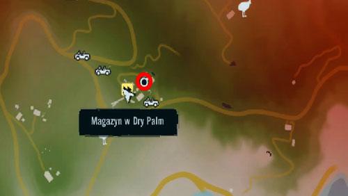 Доберитесь до области, отмеченной красным кружком, чтобы найти вход в шахты на аванпосте Сухих пальм - Южный остров - Юго-западная часть - Объекты культа - Far Cry 3 - Руководство по игре и прохождение игры