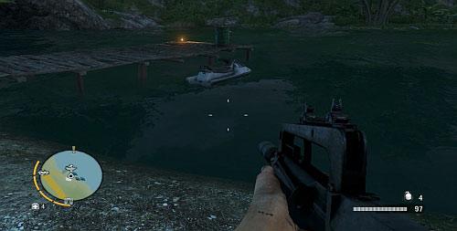 Чтобы найти предмет, нырните возле пирса, показанного на скриншоте - Северный остров - Северо-западная часть - Культовые объекты - Far Cry 3 - Руководство по игре и прохождение игры