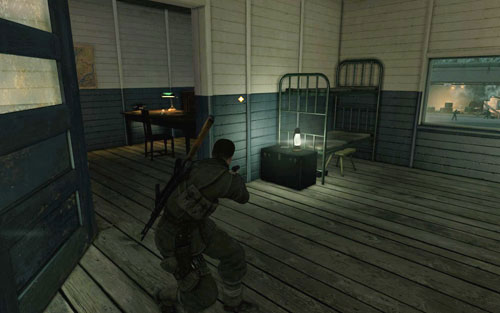 On a desk inside the first building [#2] - to the right of the main entrance (opposite if you head inside form the back) - Mission 2   Wine Bottles and Gold Bars - Wine Bottles and Gold Bars - Sniper Elite V2 Game Guide & Walkthrough
