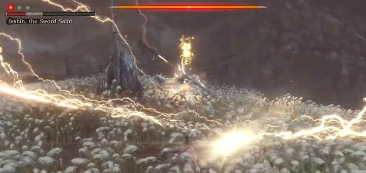 The third phase of combat is enhanced by the remains of two special attacks: cut in the air with a shock wave - dodge to any side (this attack always occurs two times), and the already known lightning strike - Genichiro & Isshin, the Sword Saint   Sekiro Shadows Die Twice Boss Fight - Bosses - Sekiro Guide and Walkthrough
