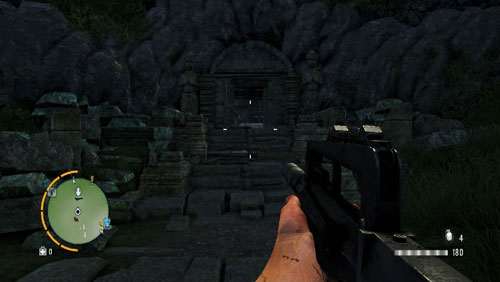 A bit to the south of the area marked as number two, there is the entrance to a temple, shown in the screenshot - The Southern Island - South-eastern part - Cult Objects - Far Cry 3 - Game Guide and Walkthrough