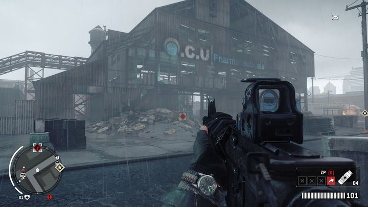 The Finstock warehouse does not offer much in terms of resistance, so you can enter it through the front door (which is gone) - Elmtree - Red zone | Key Points - Key Points - Homefront: The Revolution Game Guide & Walkthrough