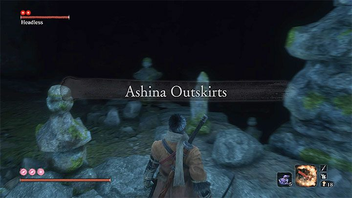 Go through the cave, and you will go back to Ashina Outskirts - Headless #2   Sekiro Shadows Die Twice Boss Fight - Bosses - Sekiro Guide and Walkthrough