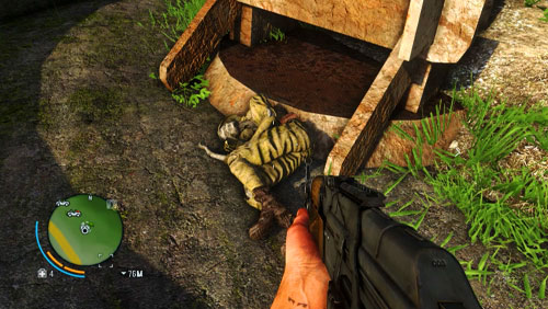 Mount the hill to reach the area marked with number one - The Northern Island - Southern part - Letters of the Lost - Far Cry 3 - Game Guide and Walkthrough