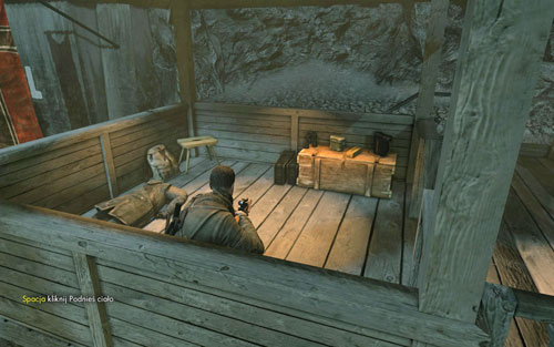 On the second watchtower [#4], on a crate by the entrance - Mission 2   Wine Bottles and Gold Bars - Wine Bottles and Gold Bars - Sniper Elite V2 Game Guide & Walkthrough