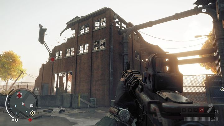 Once you reach the place, you will have to hide from snipers sitting in their nests - Elmtree - Red zone | Key Points - Key Points - Homefront: The Revolution Game Guide & Walkthrough