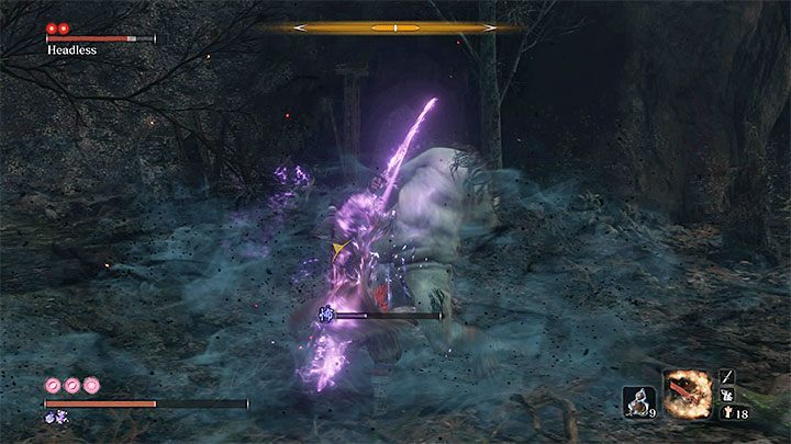 Before you approach the boss, use the Pacifying Agent or Mottled Purple Gourd, and, additionally, the Divine Confetti - Headless #5   Sekiro Shadows Die Twice Boss Fight - Bosses - Sekiro Guide and Walkthrough