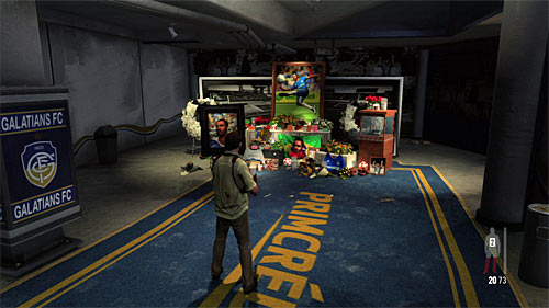 SECRET 8 [Clue 4/4 - Soccer Star Memorial]: At the very end of the Trophy Room, by the passage leading to the second part of tribunes - Clues and Golden Guns - Chapter III - Collectibles - Max Payne 3 - Game Guide and Walkthrough