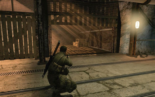 Inside corridor 38, in an alcove on the right, behind some crates [#6] - Mission 2   Wine Bottles and Gold Bars - Wine Bottles and Gold Bars - Sniper Elite V2 Game Guide & Walkthrough