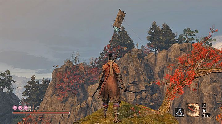 You just need to approach the kite - Great Serpent - the second and third encounter  Sekiro Shadows Die Twice - Bosses - Sekiro Guide and Walkthrough