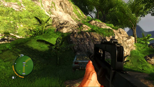 Climb the elevation in the area marked with the red circle - The Northern Island - Southern part - Letters of the Lost - Far Cry 3 - Game Guide and Walkthrough
