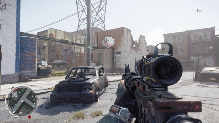 Another warehouses entrance is placed in an adjoining building from where you will have to go through a bridge connecting both constructions - Holloway - Red zone | Journals and jobs - Journals and jobs - Homefront: The Revolution Game Guide & Walkthrough