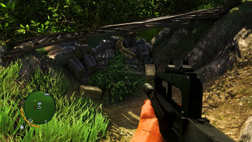 Approach the area marked as number five from the north, where there are battlements and the letter next to a corpse - The Northern Island - Southern part - Letters of the Lost - Far Cry 3 - Game Guide and Walkthrough