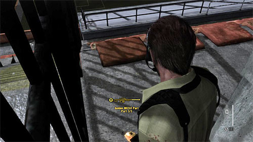 SECRET 10 [Golden Gun - M82A1 3/3]: In the upper part of the third part of tribunes, in the place which is monitored by the second sniper - Clues and Golden Guns - Chapter III - Collectibles - Max Payne 3 - Game Guide and Walkthrough