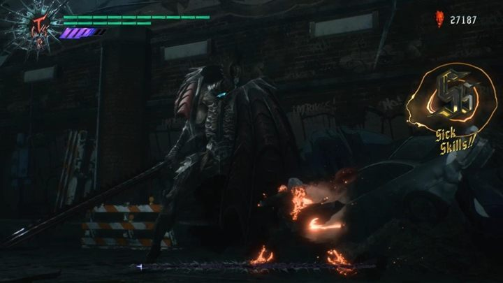 The opponent is not very challenging if you can constantly attack and not allow too much distance between yourself and the boss - Cavaliere Angelo Boss Fight Guide for DMC5 - Bosses - Devil May Cry 5 Guide
