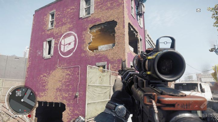 Warehouse #8 is located on an upper floor of a building in the picture - Holloway - Red zone | Journals and jobs - Journals and jobs - Homefront: The Revolution Game Guide & Walkthrough