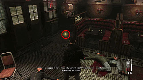 SECRET 1 [Golden Gun - 1911 Revolver 1/3]: At the closed entrance to the bar, at the very beginning of the chapter - Clues and Golden Guns - Chapter IV - Collectibles - Max Payne 3 - Game Guide and Walkthrough