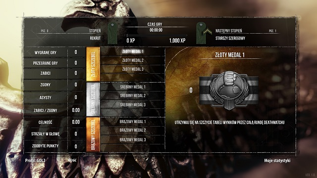 A gold medal - thats what you should aim for. - Multiplayer - Enemy Front - Game Guide and Walkthrough