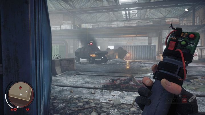The vehicle has to be destroyed using the pipe bombs, which you received at the beginning of the mission - Elmtree - Red zone | Key Points - Key Points - Homefront: The Revolution Game Guide & Walkthrough