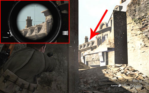 Its easier to spot this bottle after reaching the vantage point right after planting the explosive charges - Mission 1   Wine Bottles and Gold Bars - Wine Bottles and Gold Bars - Sniper Elite V2 Game Guide & Walkthrough