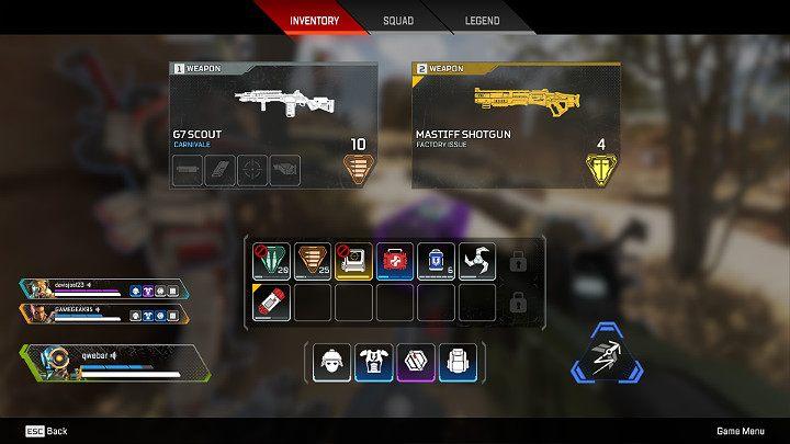 W trakcie rozgrywki w Apex Legends znajdziesz całą masę różnorakiego opancerzenia, uzbrojenia, gadżetów i medykamentów - Ekwipunek - plecaki w Apex Legends - Apex Legends - poradnik do gry