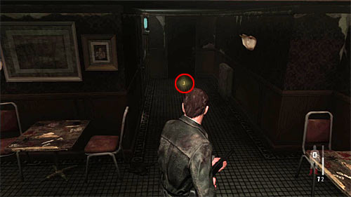 SECRET 2 [Golden Gun - 1911 Revolver 2/3]: On the bars floor in the beginning stage of the chapter - Clues and Golden Guns - Chapter IV - Collectibles - Max Payne 3 - Game Guide and Walkthrough