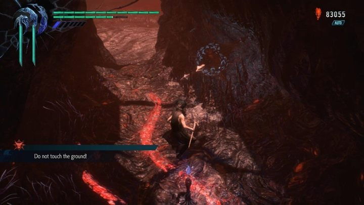 Your mission is to reach the blue fragment of the orb without touching the ground - Secret mission 10 walkthrough for Devil May Cry 5 - Secret missions - Devil May Cry 5 Guide