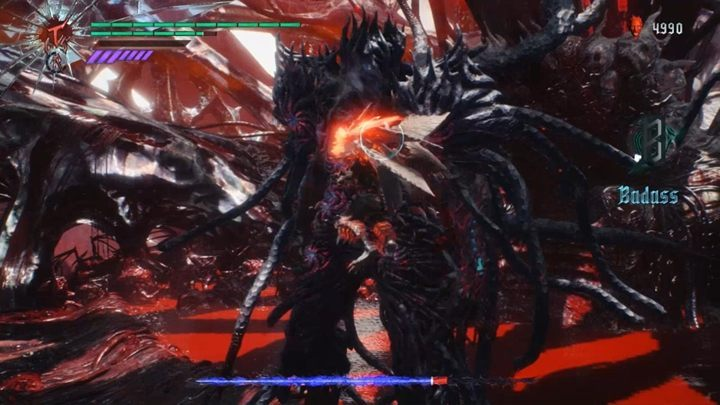 In this fight, Dante has absorbed the power of the sword and he now wields the weapon called the Demon Sword of Dante - Urizen (Mission 12) Boss Fight Guide for DMC5 - Bosses - Devil May Cry 5 Guide