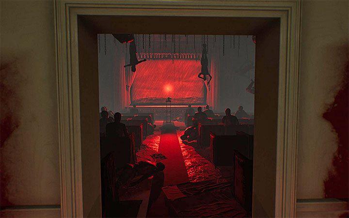 Вы будете иметь дело с решением четвертой загадки с проектором, исследуя красные пробелы в действии 4 - Четвертая головоломка с проектором   Решение загадки в Layers of Fear 2 - Layers of Fear 2 - Руководство по игре