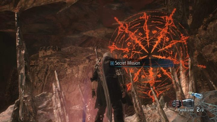 At some point in the mission, you will reach the first statue, where you can do shopping - Secret mission 11 walkthrough for Devil May Cry 5 - Secret missions - Devil May Cry 5 Guide