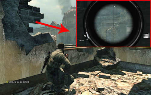 Before leaving the starting building, look towards the dome roof of the museum [#2] and onto its destroyed part - the Bottle is on some rocks - Mission 3   Wine Bottles and Gold Bars - Wine Bottles and Gold Bars - Sniper Elite V2 Game Guide & Walkthrough