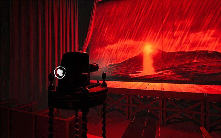 Подойдите к проектору и начинайте прыгать между кадрами, пока фигура не станет похожа на маяк (рисунок) - Четвертая загадка с проектором   Решение загадки в Layers of Fear 2 - Layers of Fear 2 - Руководство по игре