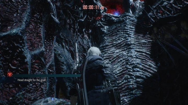 This time, you will have to reach the Blue Crystal within 30 seconds - Secret mission 11 walkthrough for Devil May Cry 5 - Secret missions - Devil May Cry 5 Guide