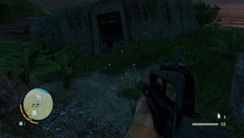 Переезд в отмеченную область, где на скриншоте изображен бункер - Северный остров - Юго-восточная часть - Письма потерянных - Far Cry 3 - Руководство по игре и прохождение игры