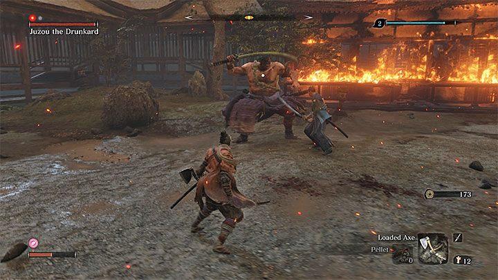 Помоги своему временному союзнику - он может умереть в этой битве - Юзу Пьяница   Sekiro Shadows Die Twice Boss Fight - Боссы - Руководство по Sekiro и прохождение игры