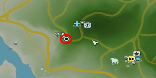 In the area marked with the red circle, you will find a broken fence - The Northern Island - Northern part - Cult Objects - Far Cry 3 - Game Guide and Walkthrough