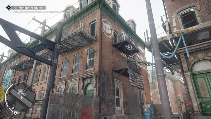 The second warehouse can be found in one of the flats in the building on the left, depicted above - Ashgate - Yellow zone | Journals and jobs - Journals and jobs - Homefront: The Revolution Game Guide & Walkthrough