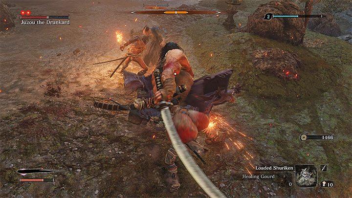 Юзу сражается с большим мечом - Юзу Пьяница   Sekiro Shadows Die Twice Boss Fight - Боссы - Руководство по Sekiro и прохождение игры