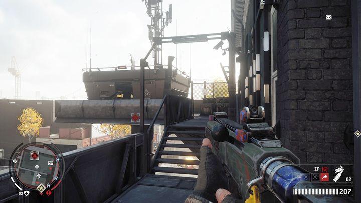 Независимо от того, как вы поступите, уничтожьте всех солдат и идите к лестнице справа - Эрлстоун - Желтая зона |  Ключевые моменты - Ключевые моменты - Homefront: руководство к игре Revolution и прохождение