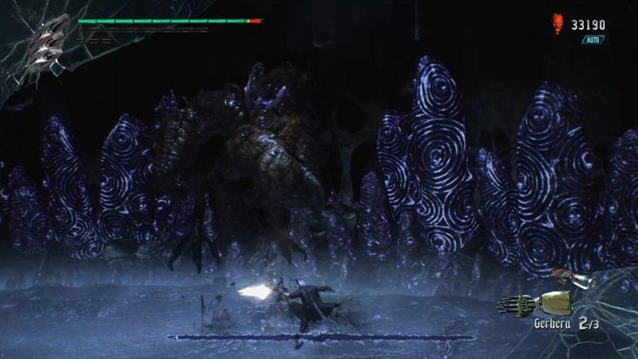 At some point, the boss will disappear completely from the screen and you will be attacked with claws that emerge from random places - Malphas Boss Fight Guide for DMC5 - Bosses - Devil May Cry 5 Guide