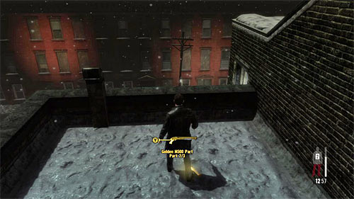 SECRET 9 [Golden Gun - M500 Shotgun 2/3]: On the roof of the first building after you use the staircase - Clues and Golden Guns - Chapter IV - Collectibles - Max Payne 3 - Game Guide and Walkthrough