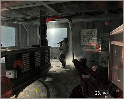 After eliminating the enemies go to the next room and turn right - Project Nova | Intel - Intel location - Call of Duty: Black Ops Game Guide & Walkthrough