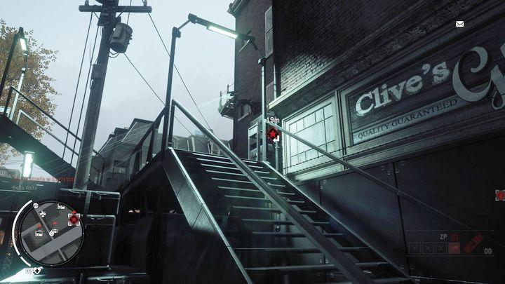 Находясь внутри, идите к лестнице и уничтожьте видимую камеру KPA - Earlstone - Желтая зона |  Ключевые моменты - Ключевые моменты - Homefront: руководство к игре Revolution и прохождение