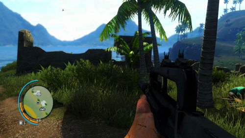 In the area marked as number two, you will find remains of a bunker shown in the screenshot - The Southern Island - North-western part - Letters of the Lost - Far Cry 3 - Game Guide and Walkthrough