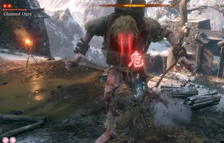 The Ogres grab attack can kill you if your character doesnt have a lot of health. - Chained Ogre   Sekiro Shadows Die Twice Boss Fight - Bosses - Sekiro Guide and Walkthrough