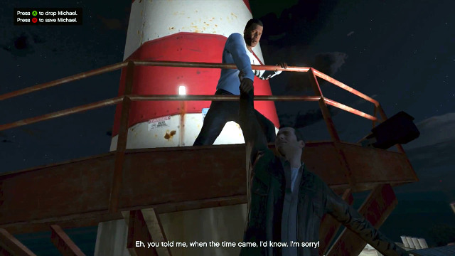 Michael will fall down whatever you choose - Endings - Choices and endings - Grand Theft Auto V Game Guide