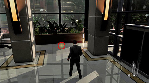 SECRET 3 [Golden Gun - PT92 Pistol 2/3]: You will find it in the glassed corner by the elevator (after using it) - Clues and Golden Guns - Chapter I - Collectibles - Max Payne 3 - Game Guide and Walkthrough