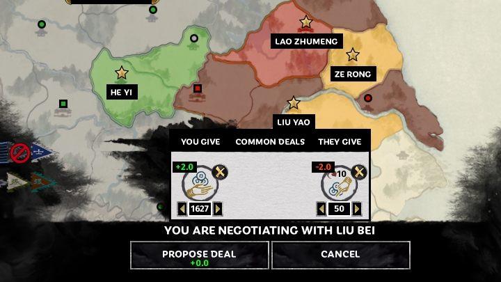 Okienko negocjacji dyplomatycznych. - Dyplomacja i handel w Total War Three Kingdoms - Total War Three Kingdoms - poradnik do gry