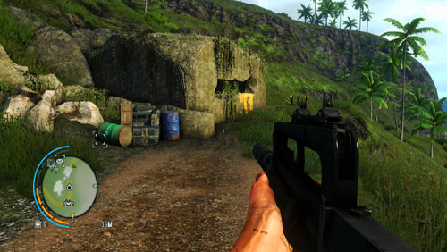 Go down into the bunker shown in the screenshot, which you will find in the area marked as number one - The Southern Island - North-eastern part - Letters of the Lost - Far Cry 3 - Game Guide and Walkthrough