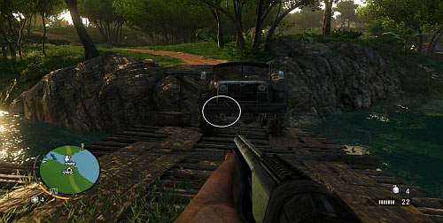 In the marked area, you will find a bridge with a truck, partially hanging over the bridge - The Northern Island - Northern part - Cult Objects - Far Cry 3 - Game Guide and Walkthrough
